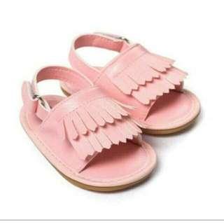 🚚 粉色流蘇涼鞋(全新現貨)