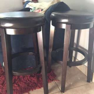 Leather Brown Stools