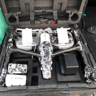 RUSH!! 80k DJI INSPIRE 1 DRONE (WHITE & BLACK CAMO SKIN)