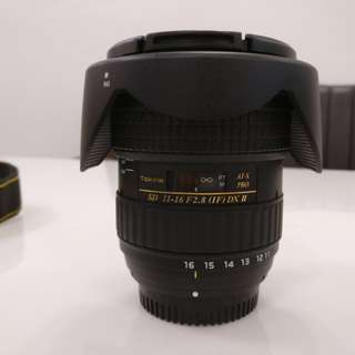 Tokina 11-16mm F2.8 (IF) DX II AT-X PRO (nikon mount)