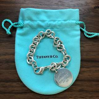Tiffany & Co. Dog Tag Silver Bracelet