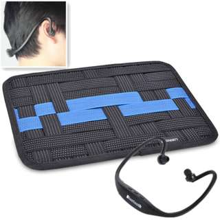 Elastic Binding Organizer Gadgets Container Bag Storage Board with Sport Headset Bluetooth Wireless Neckband Earphones