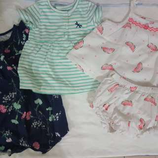 Baby girl 6-9 months set of clothes.