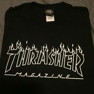 Thrasher fire T-shirt black