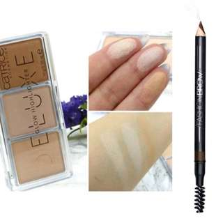 Bundle (highlighter and 2in1 eyebrow pencil)