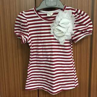 (CLEARANCE) Red & White stripes top