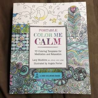 Portable Color Me Calm Book