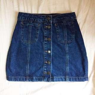 TOPSHOP button down skirt