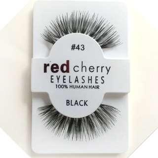 Type : #43, #217, #218 & #412 ★Red Cherry Thick False Eyelashes/ 100% Human Hair Strip Lash/Fake Eyelashes/ Eye Lashes