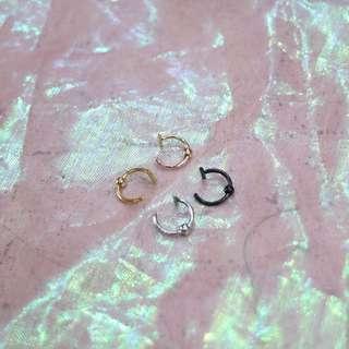 圓珠造型鼻環夾/唇環夾