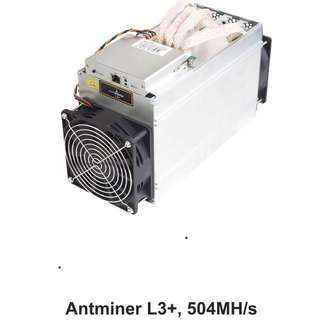 Antminer L3+ with PSU (ready stock)