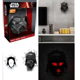Star Wars 3D Wall Nightlight - Darth Vader Helmet