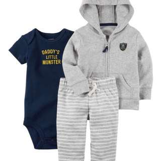 Carters baby boy set 3-piece bodysoft little jacket set