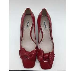 Miu Miu Red Crystal Pumps - Miu Miu 紅色水晶低跟鞋
