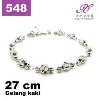 YAXIYA gelang kaki dewasa emas putih 18k perhiasan imitasi