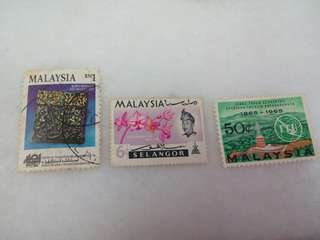 Old Vintage Malaysia Stamps mixed condition