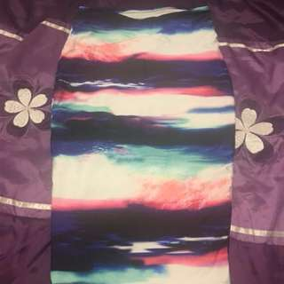 Kookai size 1 rainbow skirt