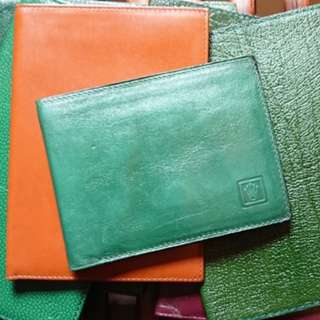 Rolex Vintage Green Leather Wallet New Old Stock 勞力士
