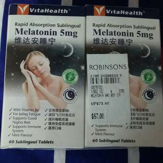 Melatonin 5mg. (Rapid Absorption Sublingual) Twin pack