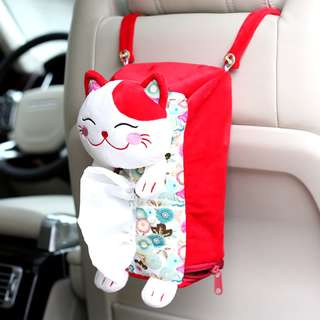 Hanging Lucky Cat Tissue Cover