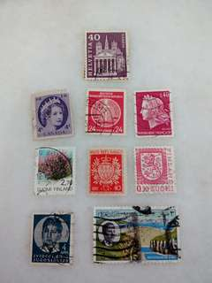 Stamps Mixed Country 10V Used #1