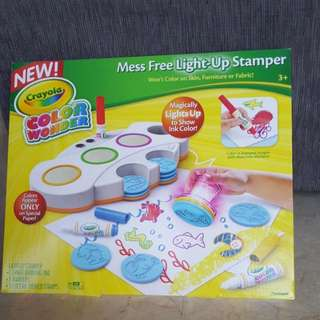 Crayola Color Wonder Mess Free Light-Up Stamper, Art Tools (Ages 3 & Up) Brand New In Box