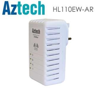HomePlug,電力線網路,新加坡,Aztech,愛捷特,HL110EW,(家用電力線網路,電力網絡,200Mbps,WiFi,AV)