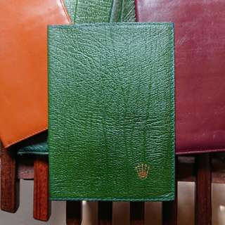 Rolex Leather Passport Wallet New Old Stock RARE 勞力士