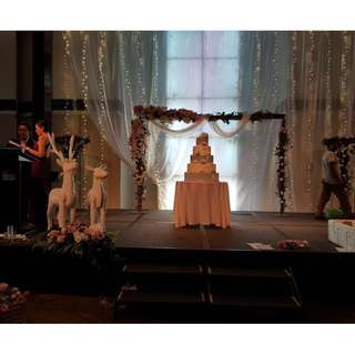 Marriott Tangs Wedding Decoration Setup Rustic Theme Photobooth and Stage decor
