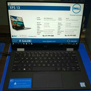 Dell xps 13 core i7-7y75