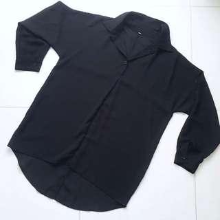 Oversized Black Blouse