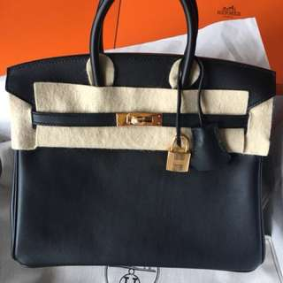 Hermes Birkin 25 Black GHW