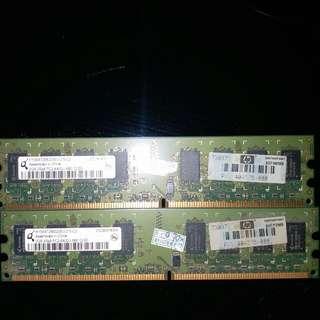 DDR2 800 2G x2