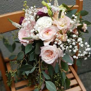 Bridal bouquet - David Austin roses