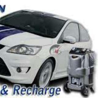 Car AC gas topup service