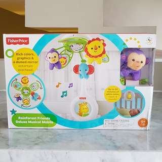 Fisher Price Rainforest Friend Deluxe Musical Mobile