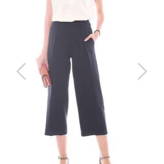 ACW straight cut culottes in Navy