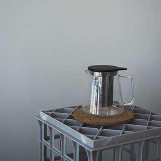 t2 black glass teapot