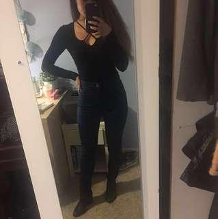 American Apparel Size S Indigo Easy Skinny High-Waisted Skinny Jean