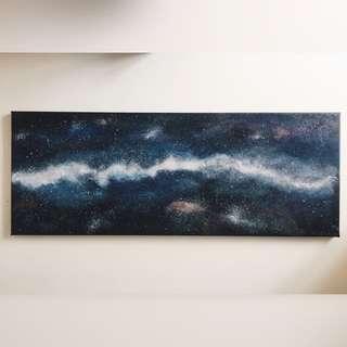 Milky way acrylic painting