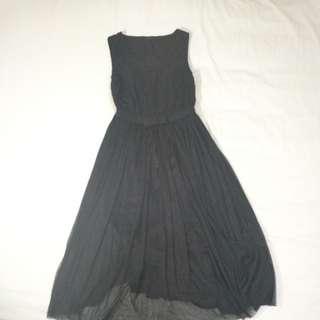 Black Sleeveless Tulle Dress