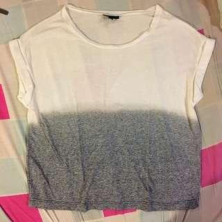 Topshop Two-Toned Shirt