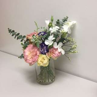 Jar flowers (for desk)