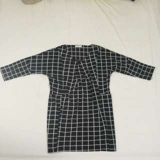 Black Check Dress
