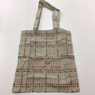 GU Global Work麻布可上膊tote bag