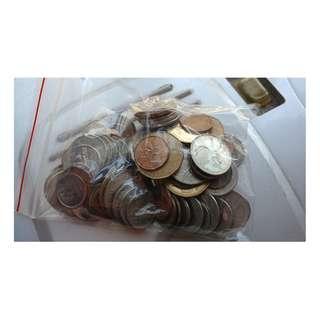 Canadian Dollar coins 加拿大幣 加幣硬幣一袋 (共CAD18.78)