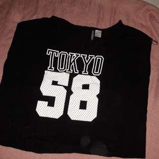 Preloved Tokyo h&m croptop