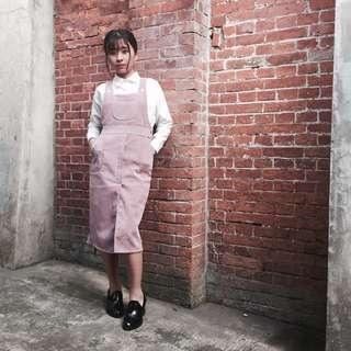 🚚 石英粉燈芯絨連身裙