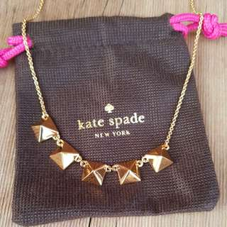 Kate Spade gold stud necklace