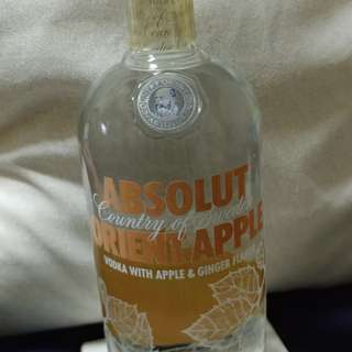Absolute vodka with apple and ginger flavor